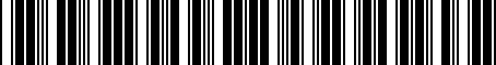 Barcode for 078903119H