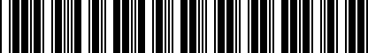 Barcode for 8D0907701