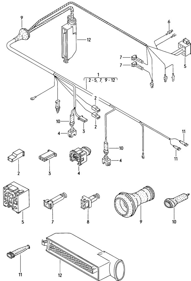 059905371. harness for lambda probe and transistorized ignition system for vehicles with retro fitted lambda...