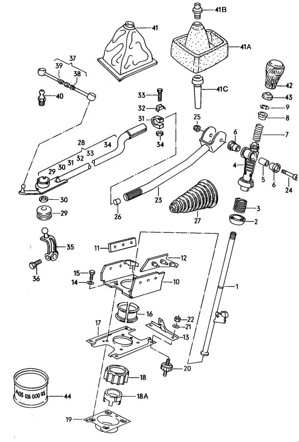 service manual  1991 audi 80 gear shift mechanism