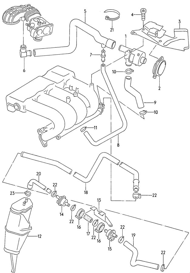8n0971636 - audi connecting piece central locking system  door