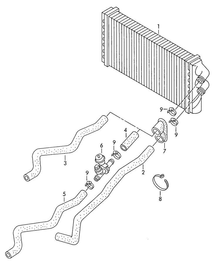 Audi A6 Quattro Water hose (flange > heat exchanger ...