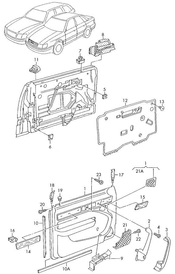 service manual  how to remove 1993 audi 90 door panel