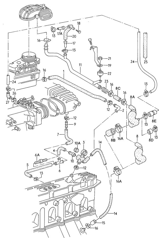 1990 90q 20v crankcase breather    has restrictor
