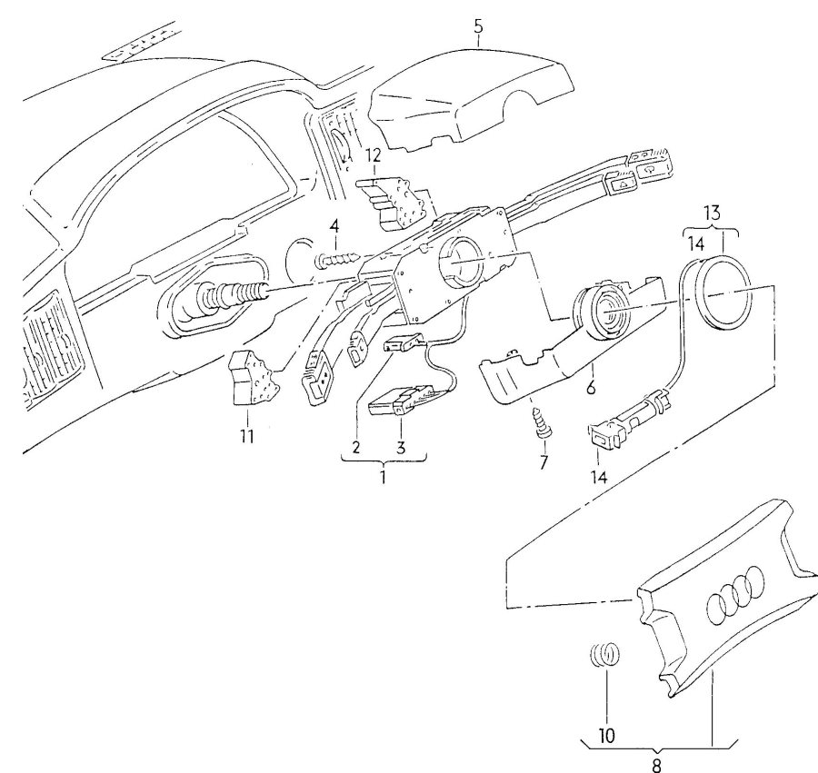 audi steering column switch switch for turn signals  high