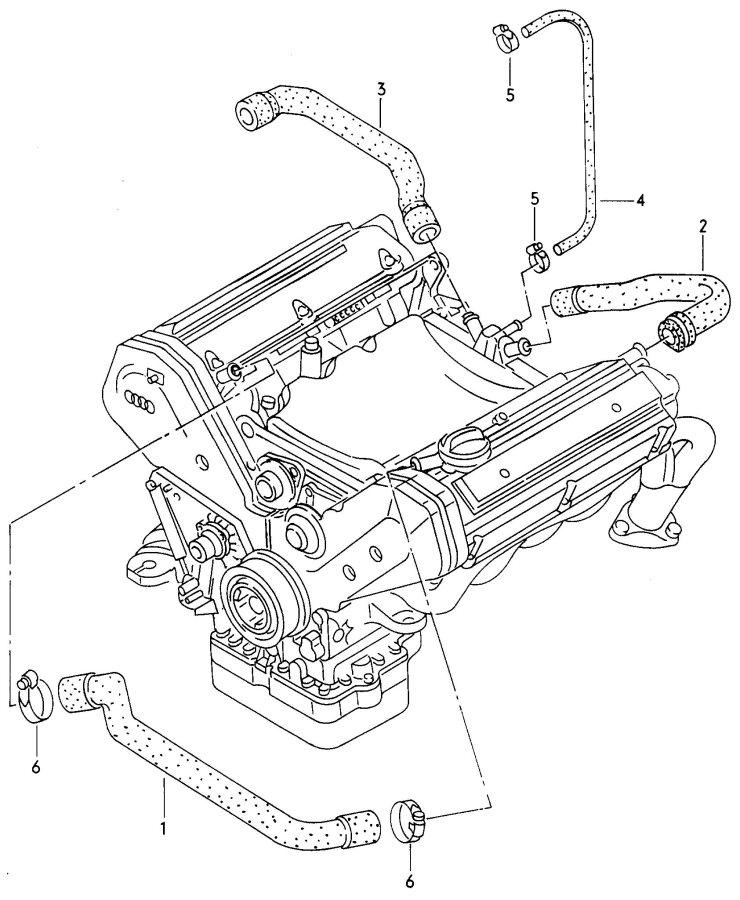 Audi A8 Quattro Vent Hose  Breather Hose