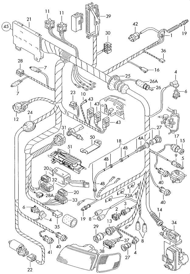 2001 Audi A8 Quattro Transmission Module Horn Flatcontact