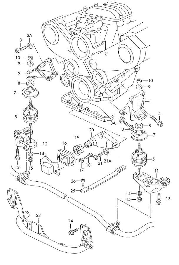 2001 Audi A6 Stop