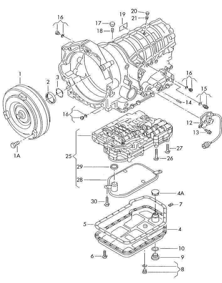Audi a4 1996 transmission