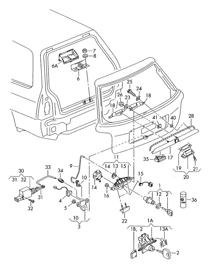 service manual  how to fix 2003 jeep wrangler trunk latch