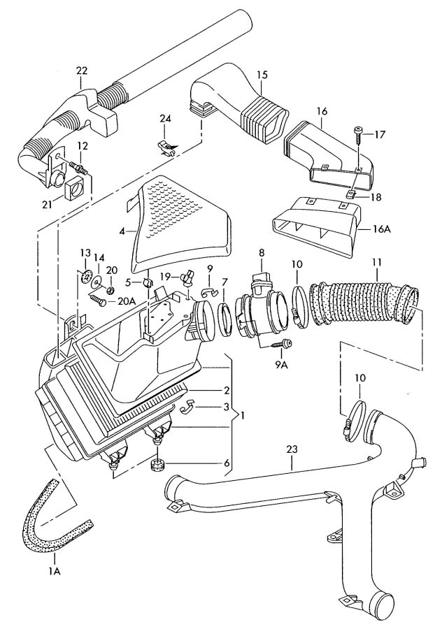Came Across This Part That Is On The A6 27t Its An Additional Intake Goes Radiator Support To Help Funnel In Air Better Item 16a: Audi B5 S4 Engine Bay Diagram At Johnprice.co