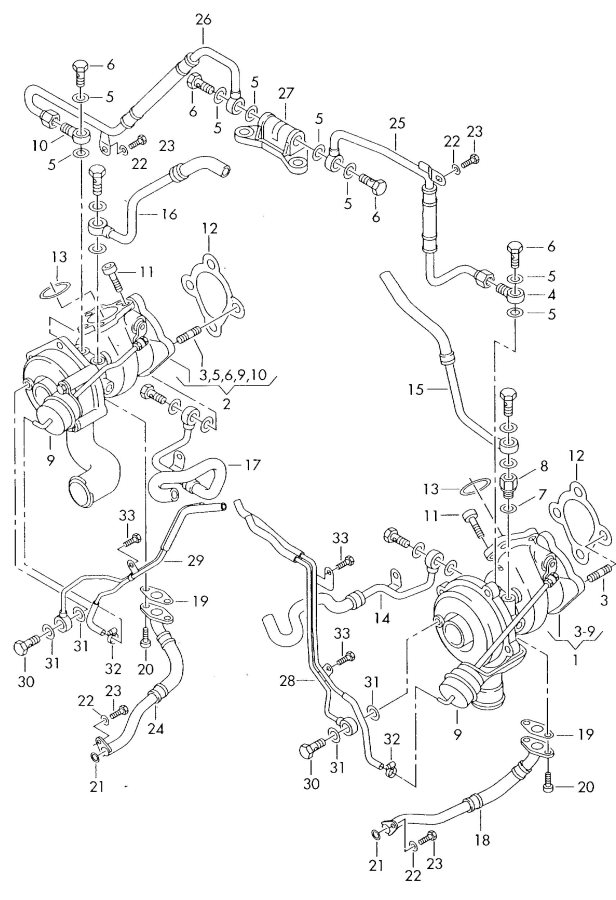 Audi A6 Exhaust Gas Turbocharger