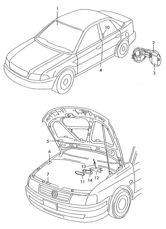 2004 Audi S4 Avant Fuel Information Label  4 0 Liter  Gbf  Rozron  Silverblack