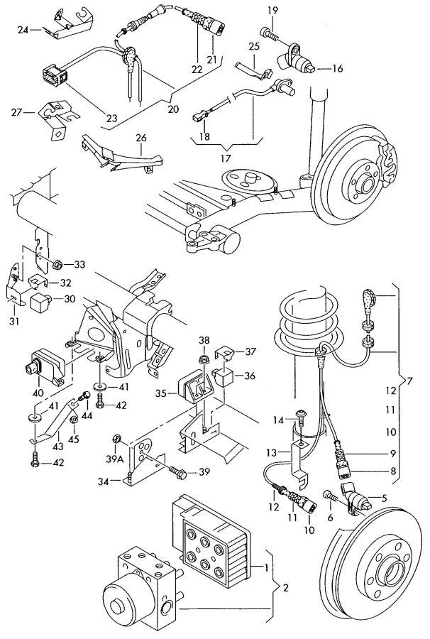 2002 Audi Tt Coupe Speed Sensor  Revolution Counter  Acceleration