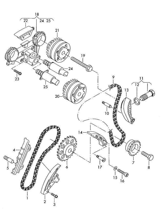Audi Timing Chain Guide Rail 3 2ltr