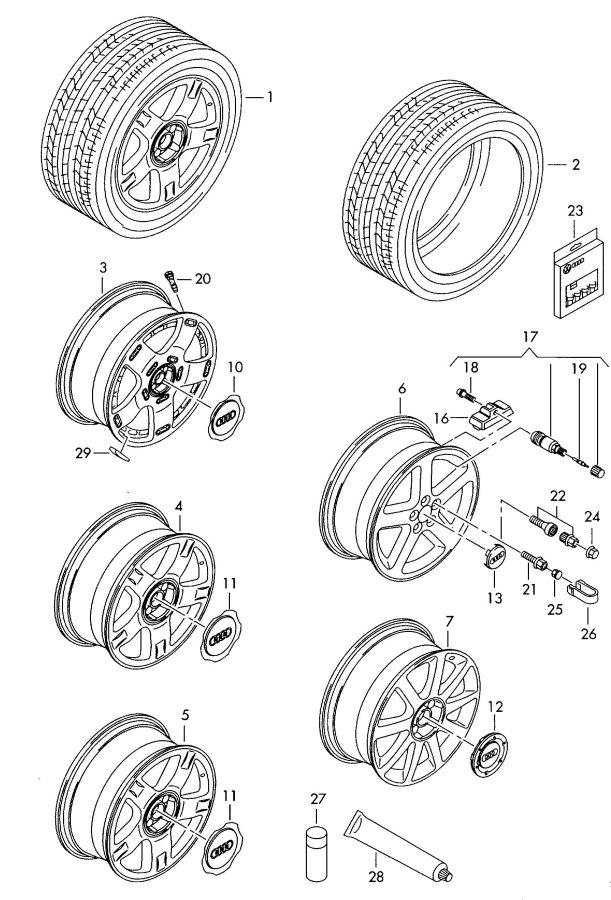 2003 audi grey-metallic for wheel disc   gray metallic  greymetallic  gray