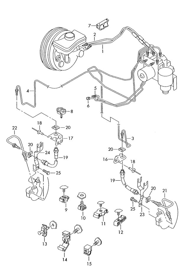 2003 Audi S6 Brake Line