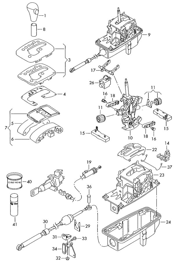 service manual  2001 audi a4 gear shift mechanism