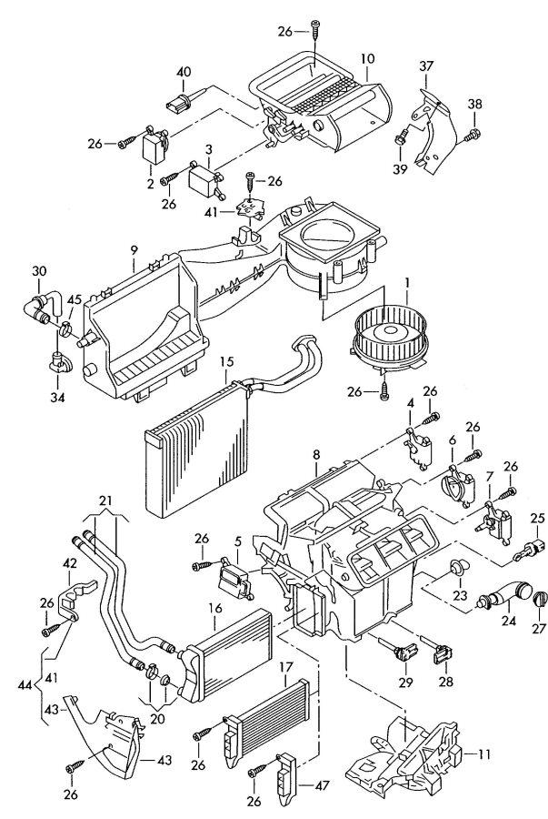 2004 Audi Heater Core Also Use   Heat Exchanger  Exchanger