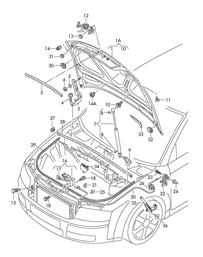 Audi A4 Quattro Avant Cable