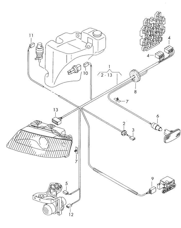 2001 Audi A6 Quattro Allroad Headlamp Harness For Interior