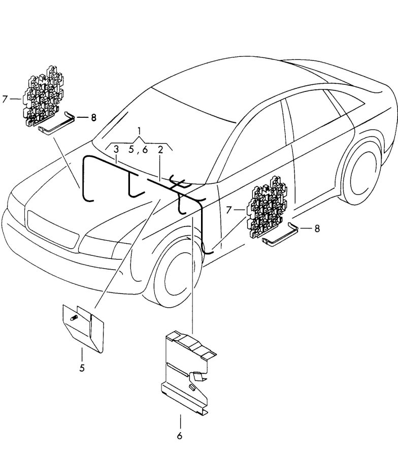 2004 audi a6 avant for vehicles with elect  wiring conduit height