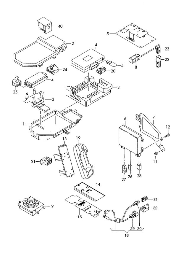 2004 Audi S4 Harness For Telephone For Vehicles With