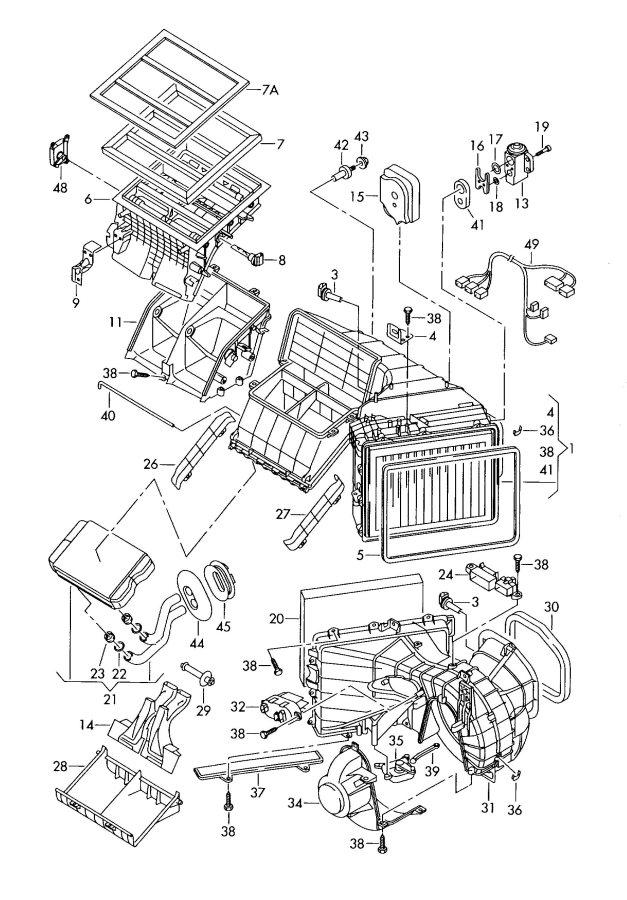 Audi Q7 Evaporator  Serviced