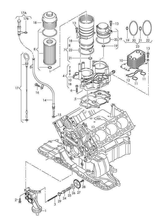 2011 audi q5 oil pump oil filter oil filter adapter oil for Audi q5 motor oil