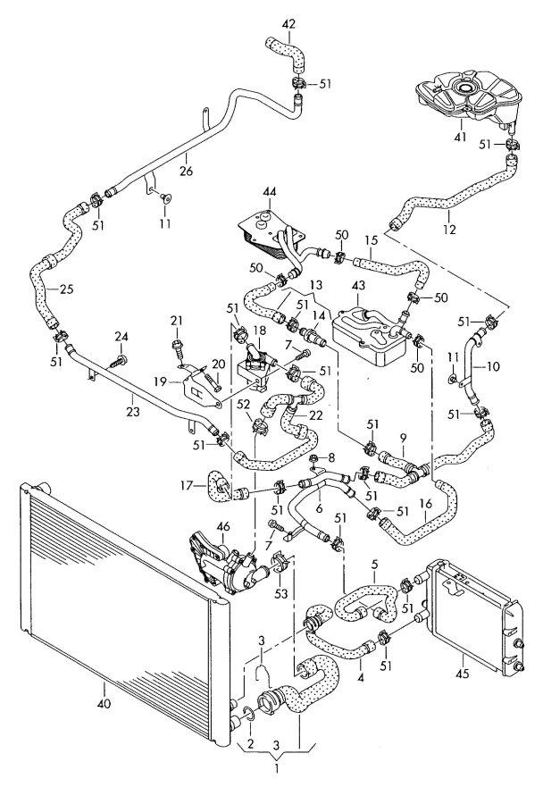 Audi A8 Quattro Engine Coolant Hose