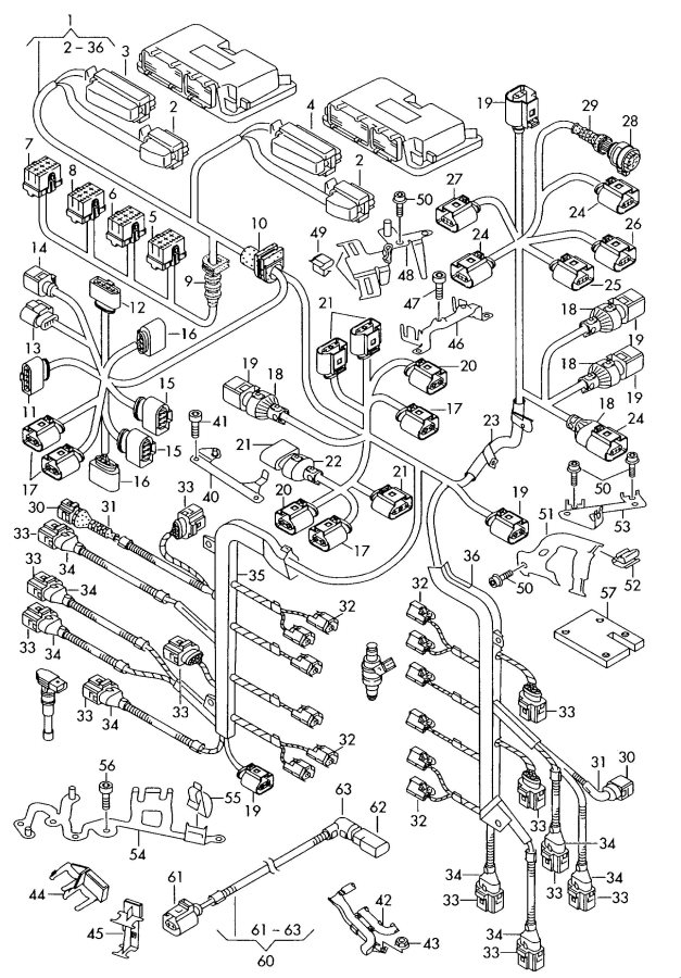 2005 vw pat parts diagram