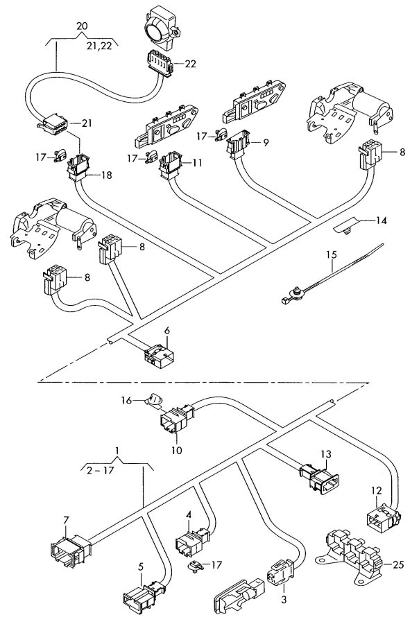 2009 Audi A4 Quattro Adapter Wiring Harness For Fuel Pump