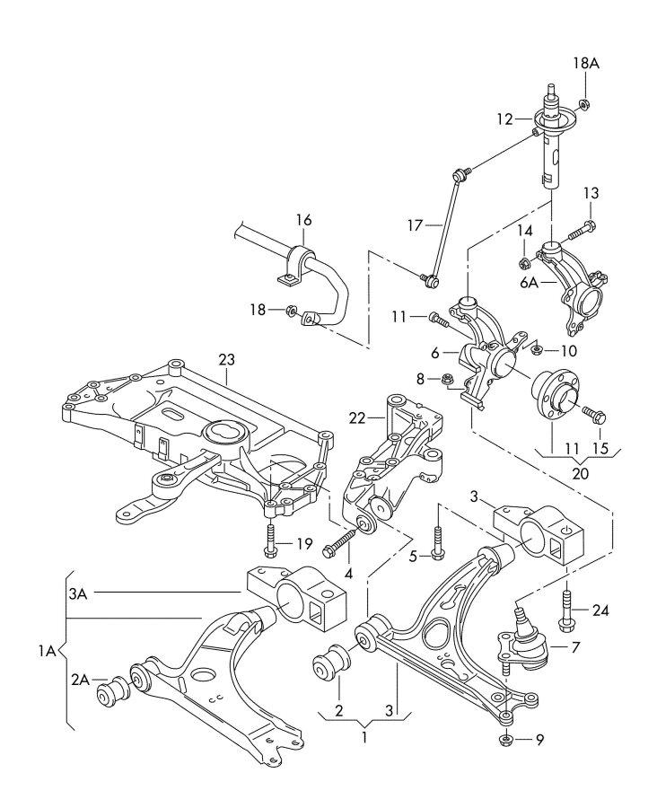 Audi A3 2 0l Stabilizer  Complete Alternative Installation