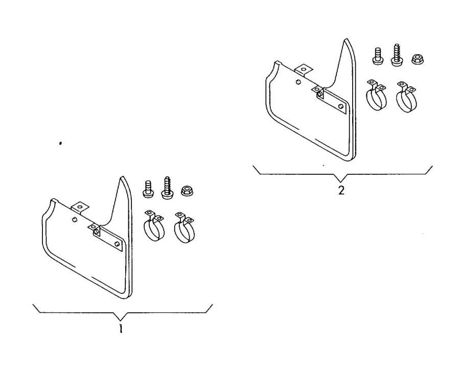 Diagram Original accessories fasteners mud flap *no fi-function possible       not for: for your Audi S5 Cabriolet