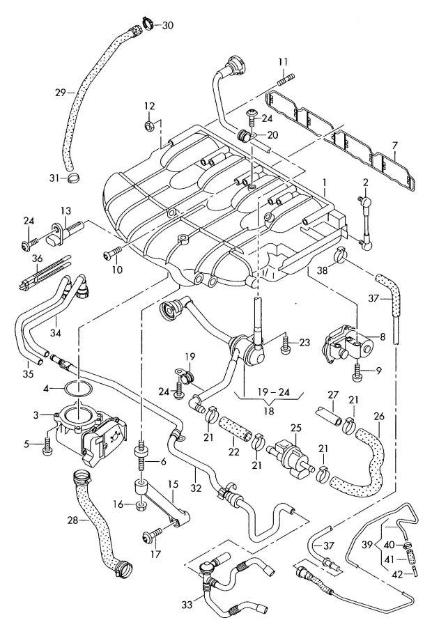 Audi A3 Vacuum Hose  Vacum Hose