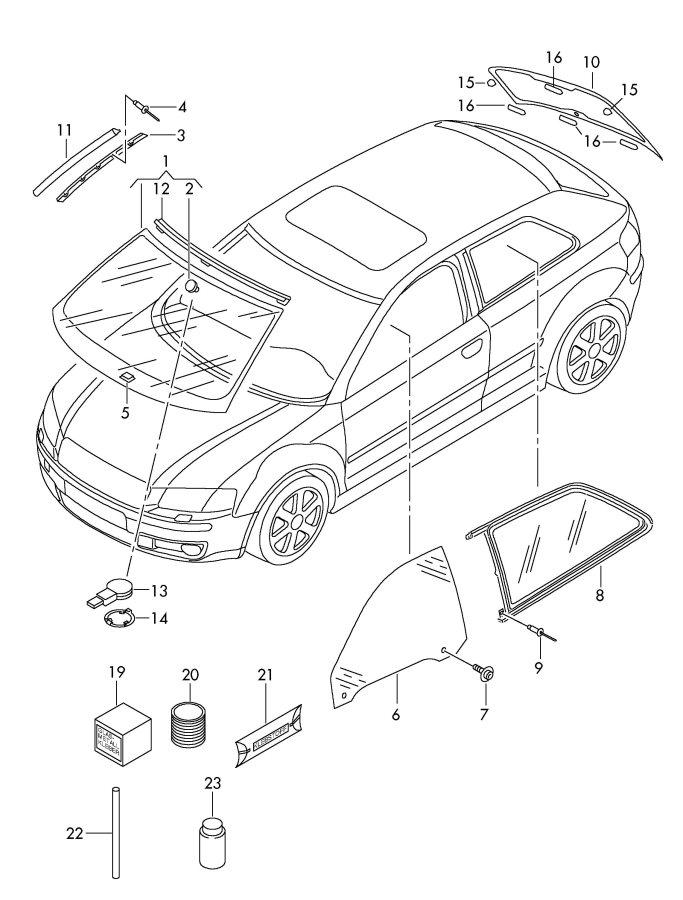 2005 Audi A3 Gel Film For Rain Sensor  Self Adhesive