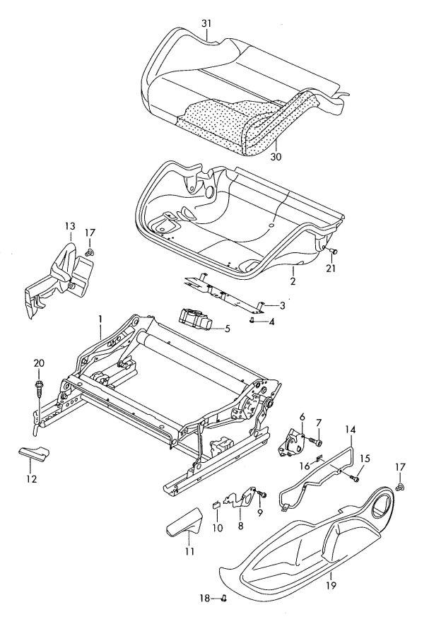 1k0881054a Audi Adjuster Height Adjustment Seat