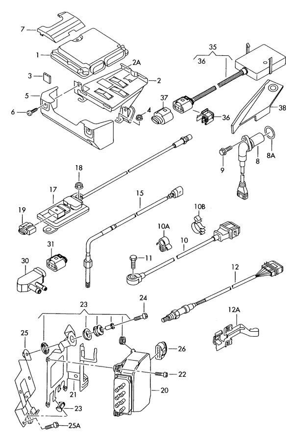 Jim Ellis Audi Atlanta >> 022957147A - Audi Engine speed sensor (rpm). Nox, BMJ, BHK ...