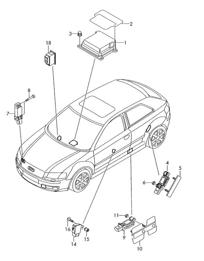 2006 Audi A3 Pressure Sensor  Pressuresensor  Deactivation