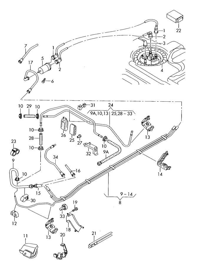 service manual  how to unblock fuel line inside 2007 audi