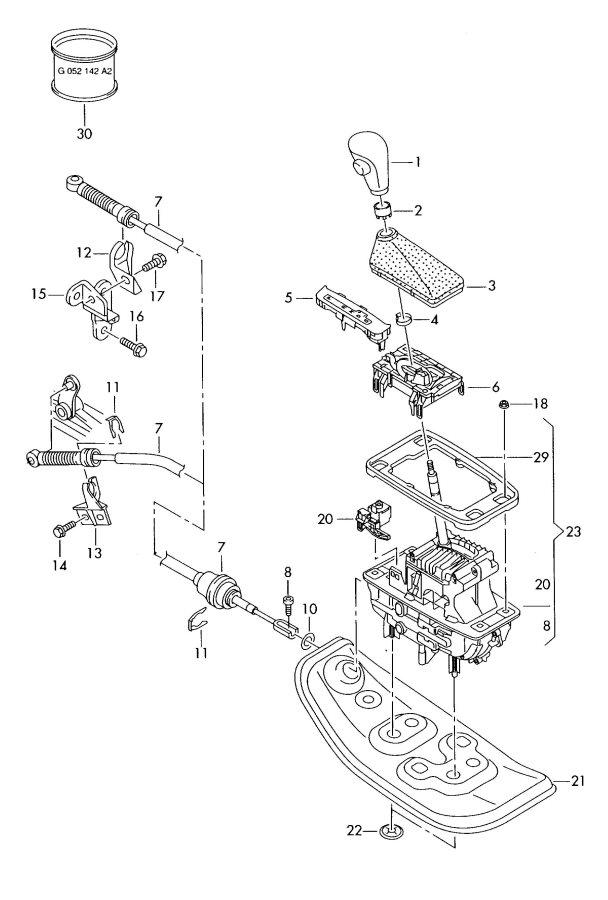 service manual  1991 audi 80 gear shift mechanism