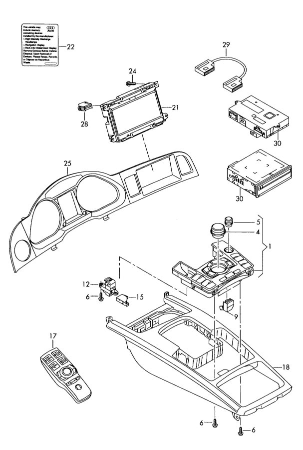 4f1927225c - Audi Switch For Electric-mechanical Parking Brakes
