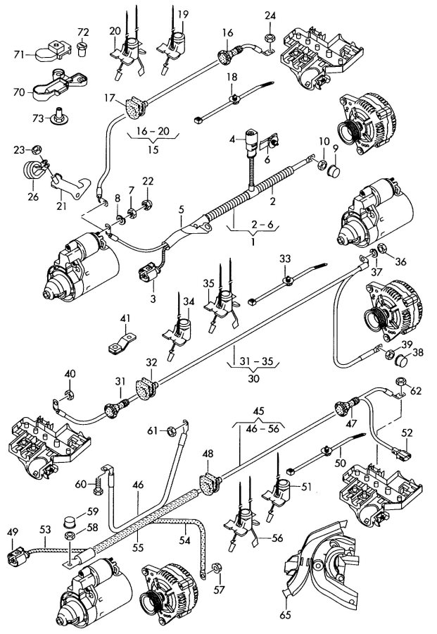 2010 Audi A6 Avant Wire Harness For Starter And Jumper