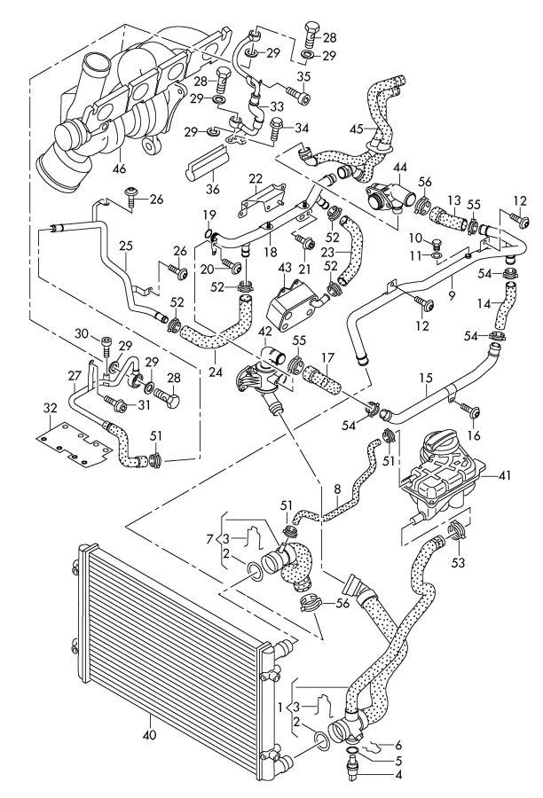 Audi A6 Quattro 3.2L Water hose (coolant pipe > oil cooler ...