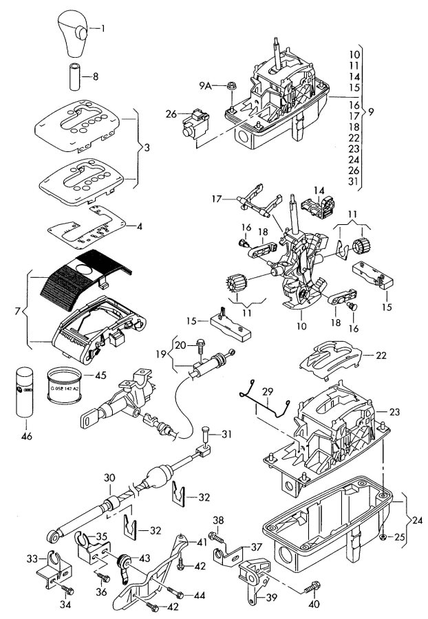 2007 Audi A4 Repair Kit  Included With  Shifter Assembly