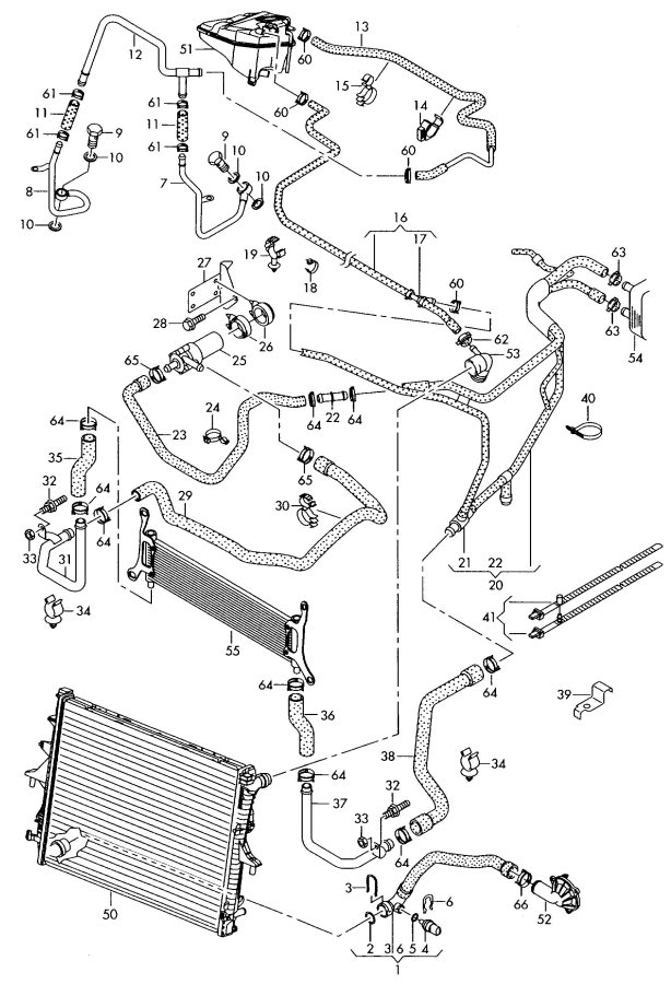 2007 Audi Q7 Bracket For Additional Water Pump  Second
