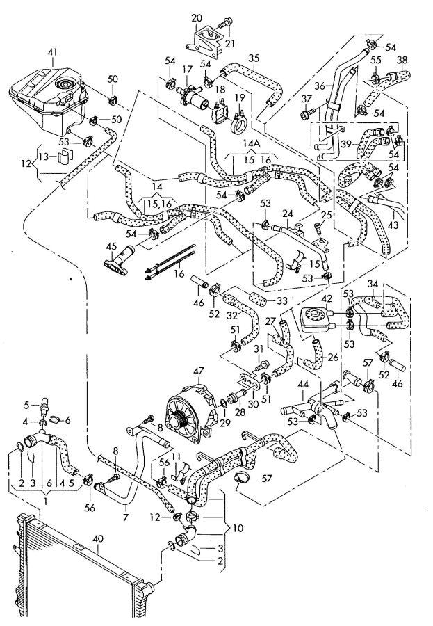 audi q7 4 2l water tube water pump housing water pump