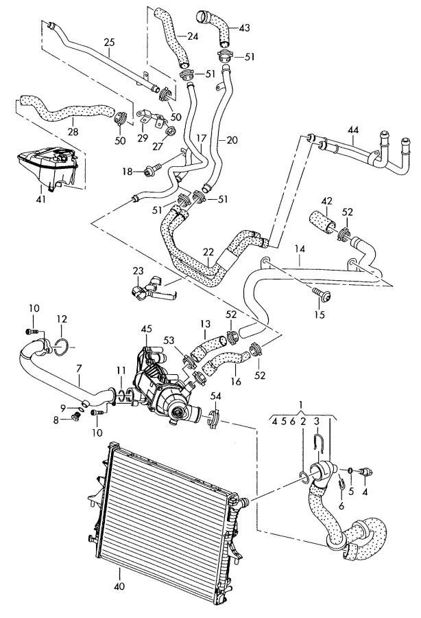 2009 Audi Q7 Water Tube  Water Pipe