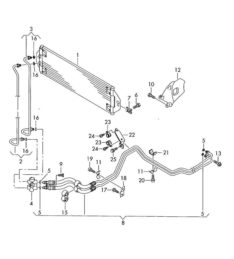 2007 Audi Q7 Automatic Transmission Oil Cooler