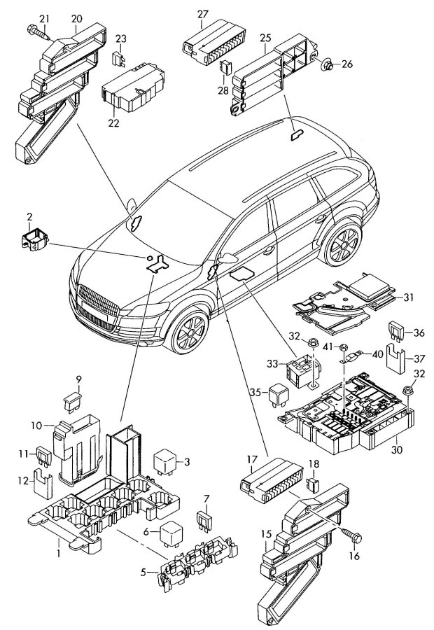 service manual  electrical relays schematic 2009 audi s5